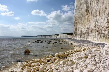 sussex: Birling gap beach in East Sussex