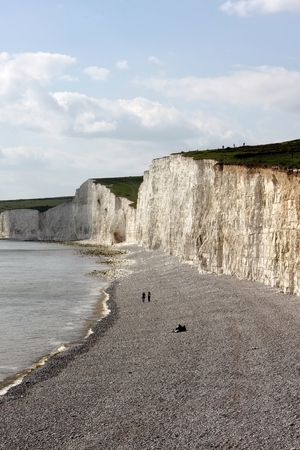 seven sisters: Seven Sisters cliffs near Eastbourne Stock Photo