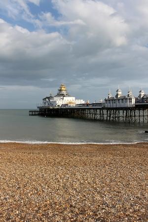 Eastbourne pier, scene in summer time