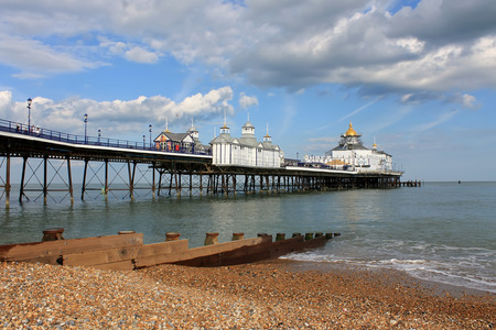 Scene of Eastbourne Pier, East Sussex Stock Photo