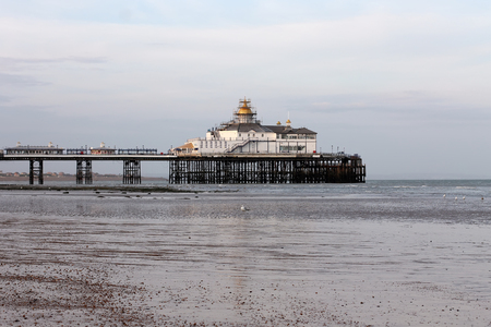 Eastbourne Pier at dusk Stock Photo