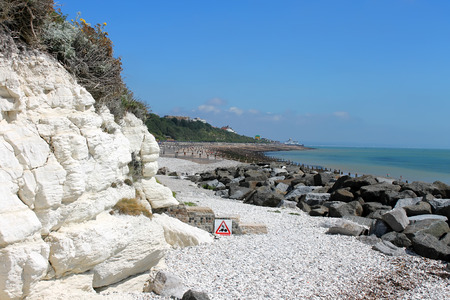 Chalk cliffs, England, United Kingdom. Stock Photo