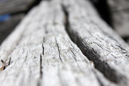 Very old wood girder