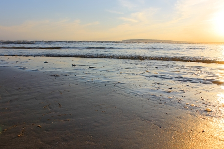 Beautiful seaside scene at dusk