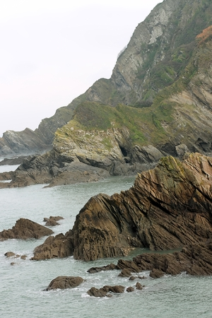 Vertical view of coast from Ilfracombe