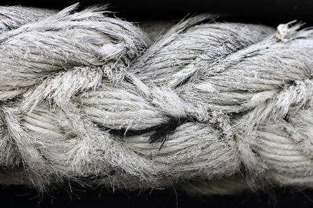 Nautical rope, closeup background texture