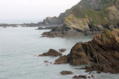The rocky coast from Ilfracombe bay