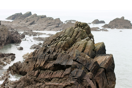 The rocky coast from Ilfracombe, Devon