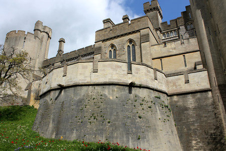 Lateral view of Arundel castle, United Kingdom