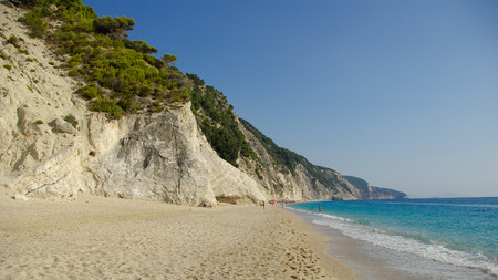 Egremni beach in Lefkada, Ionion sea, Greece photo