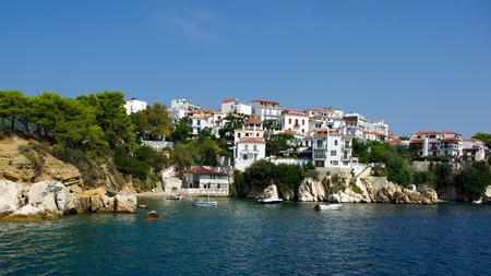 skiathos: Skiathos town, Greece  Sporades islands