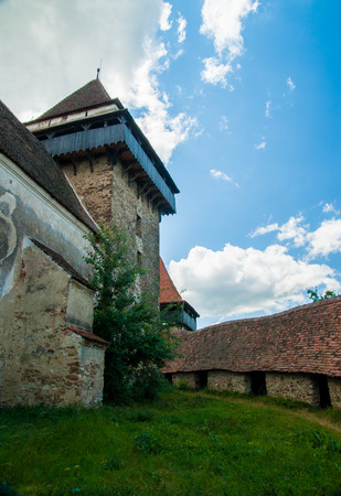 fortified: Viscri village and fortified church of Viscri