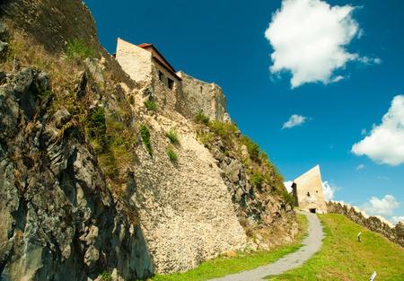 The famous medieval fortress citadel in Rupea, Brasov, Transylvania, Romania