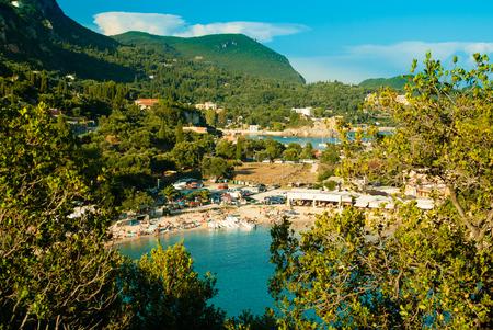 kerkyra: Summer view over the Ionian Sea, Paleokastritsa resort, Corfu Island, Greece, Europe
