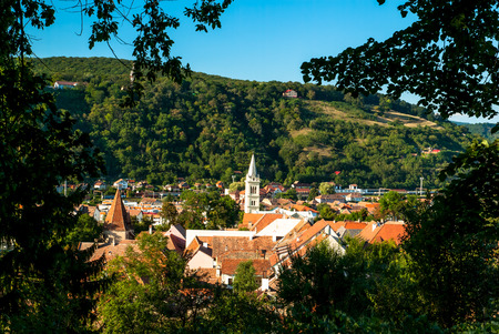 Beautiful view of Sighisoara town, Romania