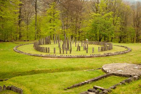 Sarmizegetusa Regia - the capital of the Dacian kingdom, Romania Stock Photo
