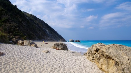 Megali Petra Beach, Lefkada Island, Levkas, Lefkas, Ionian sea, Greece photo