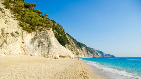 Egremni Beach, Lefkada Island, Ionion Sea, Greece. Beautiful summer at Egremni Beach in Lefkada Island, Ionian Sea, Greece