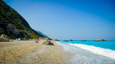 Kathisma Beach, Lefkada Island, Greece. Kathisma Beach is one of the best beaches in Lefkada Island in Ionian Sea photo