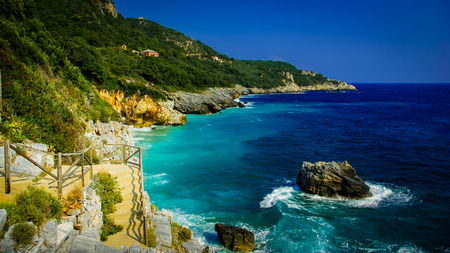 magnesia: Mylopotamos beach, Pelion, Greece. Beach of Mylopotamos near Tsagarada village Pelio, one of the most beautiful beaches in Greece