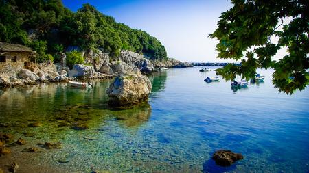 Damouchari, Pelion, Greece. Greek scenic fishing village of Damouchari in Pilio