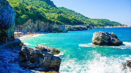 Beach of Mylopotamos near Tsagarada village Pelio, one of the most beautiful beaches in Greece