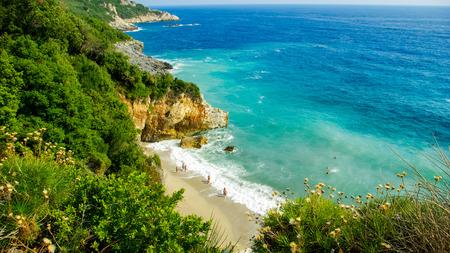 thessalia: Beach of Mylopotamos near Tsagarada village Pelio, one of the most beautiful beaches in Greece