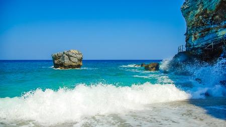 magnesia: Beach of Mylopotamos near Tsagarada village Pelio, one of the most beautiful beaches in Greece