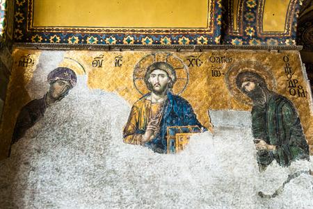 byzantium: Hagia Sophia mosque in Sultanahmet Square Istanbul Turkey. Aya Sophia Camii