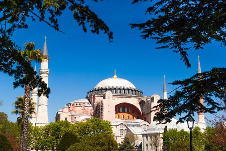 aya: Hagia Sophia museum, Istanbul, Turkey. Aya Sofia mosque exterior Editorial