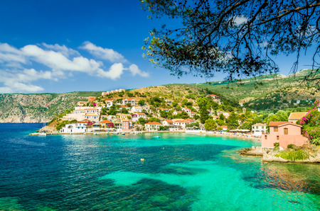 View of beautiful bay of Assos village, Kefalonia island, Greece Reklamní fotografie - 44143165