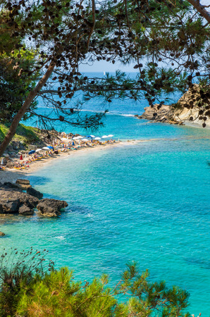 kefallinia: Turkopodaro Beach, Kefalonia Islands , Greece. Beautiful view of Turkopodaro Beach on Kefalonia, Ionian Islands, Greece