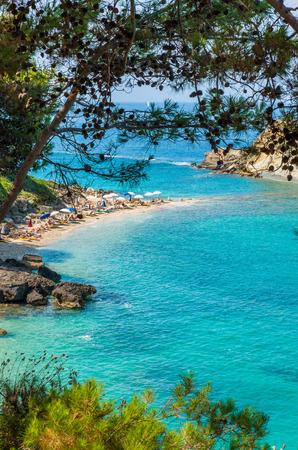 kefallonia: Turkopodaro Beach, Kefalonia Islands , Greece. Beautiful view of Turkopodaro Beach on Kefalonia, Ionian Islands, Greece
