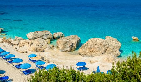 Greece: Kavalikefta Beach, Lefkada Island, Greece. Beautiful turquoise water of Kavalikefta Beach on the island of Lefkada in Greece