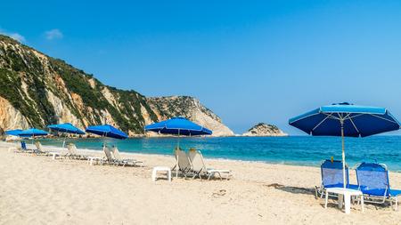 Petani beach, Kefalonia island, Greece. View of Petani bay and beautiful beach, Kefalonia island, Greece.