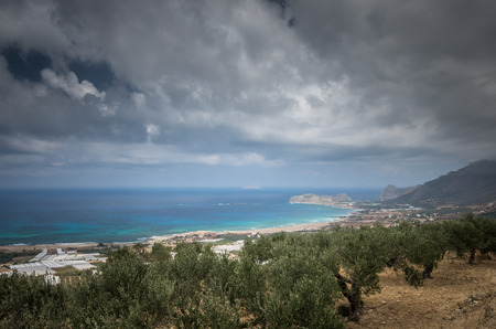 kreta: Falasarna beach, Crete island, Greece. Falassarna is one of the best beaches in Creta