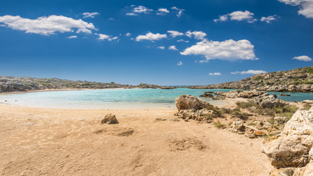 kreta: White Lake in Crete island, Greece. Aspri Limni is a lake and a beach near Elafonissi