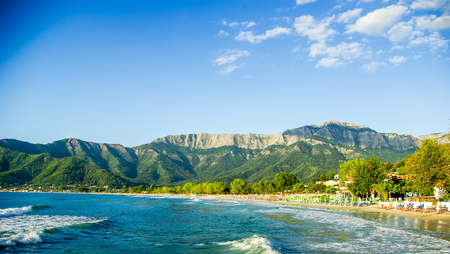Psili Ammos beach, Thassos island, Greece. It is known as Golden beach. It is situated between Skala Panagia and Skala Potamia.
