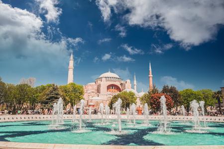 aya sofia: Hagia Sophia museum, Istanbul, Turkey. Aya Sofia mosque exterior in Istanbul, Turkey. Editorial