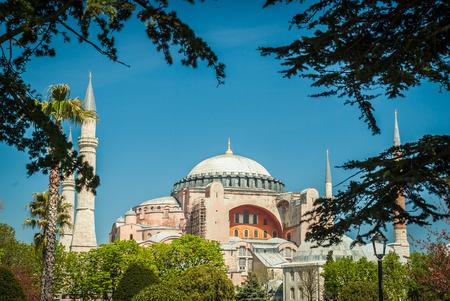 aya sofia: Hagia Sophia museum, Istanbul, Turkey. Aya Sofia mosque exterior in Istanbul, turkey