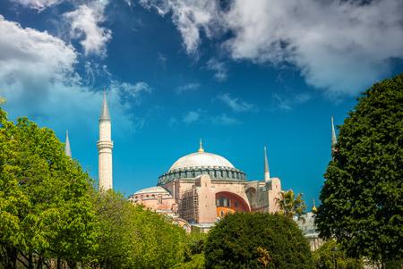 aya sofia: Hagia Sophia museum, Istanbul, Turkey. Aya Sofia mosque exterior in Istanbul, Turkey Editorial