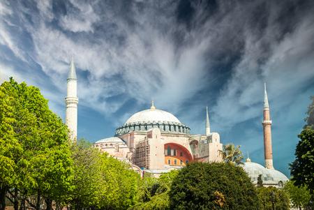 Hagia Sophia museum, Istanbul, Turkey. Aya Sofia mosque exterior in Istanbul, Turkey Editorial