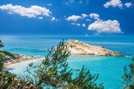 Turkopodaro Beach, Kefalonia Islands , Greece. Beautiful view of Turkopodaro Beach on Kefalonia, Ionian Islands, Greece