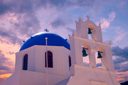 Beautiful view of a blue dome church.