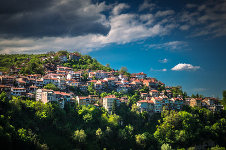 Veliko Tarnovo town, Bulgaria. The old city is located in north central of Bulgaria