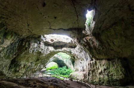 Devetashka cave, near Lovech, Bulgaria. Devetashka is one of the largest karst cave in Eastern Europe