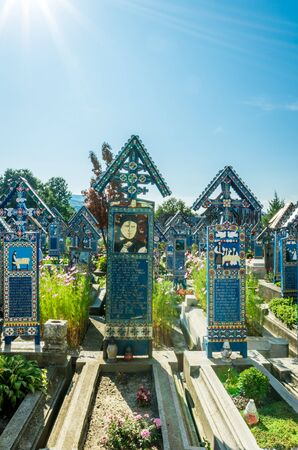 View of merry cemetery in Sapanta, August 17, 2019 新聞圖片