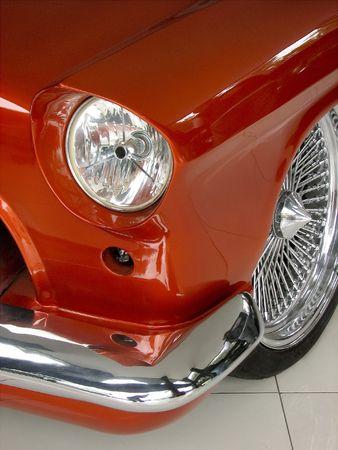 Orange Car With Chrome Rim photo