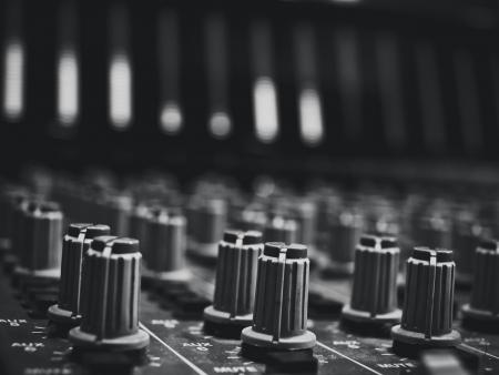 estudio de grabacion: estudio de m�sica consola Foto de archivo