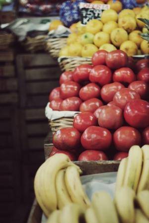 street market: fruit and vegetable street market